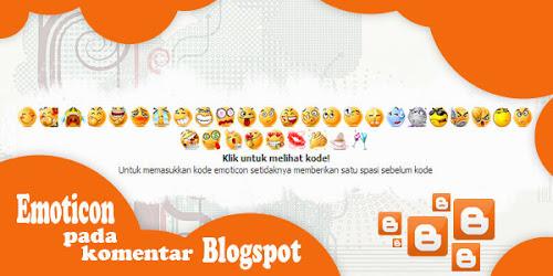 Memasang Emoticon pada Komentar Blogspot
