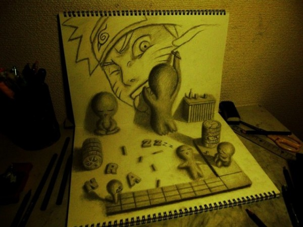 Incríveis desenhos em 3D