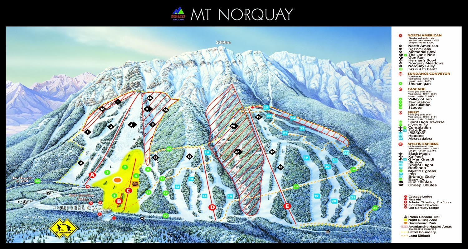 Banff Mt. Norquay Ski Resort, Banff, Alberta - Where is the Best Place for Skiing And Snowboarding in Canada
