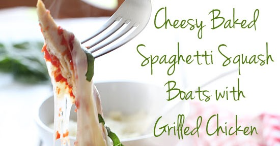 #Recipes: Cheesy Baked Spaghetti Squash Boats with Grilled ...