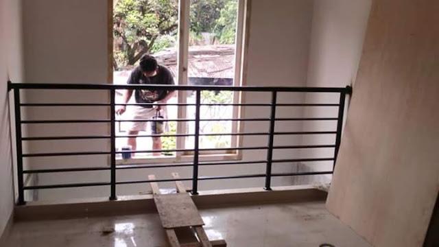 contoh balkon di Bengkel las bogor