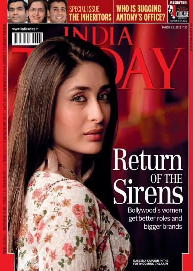 1 - Kareena Kapoor on the cover of India Today - March 2012