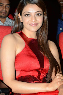 Actress Kajal Agarwal Latest Pictures in Long Dress at Temper Movie Audio Launch Function  16