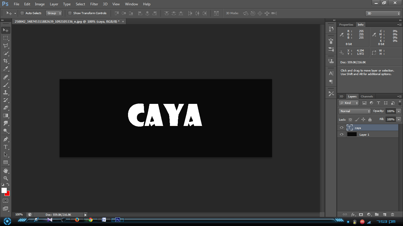 Cara Memberi Garis Tepi Pada Foto/Gambar & Tulisan Di Photoshop | Caya ...