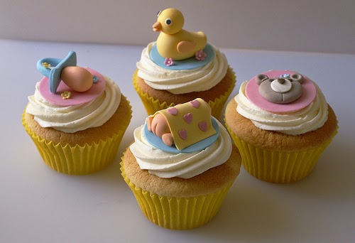 My own party ideas baby showers cupcakes inspiration for Baby shower cupcake picks decoration