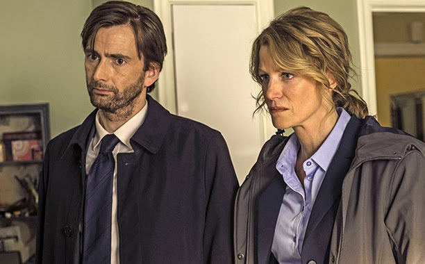 David Tennant and Anna Gunn from Gracepoint