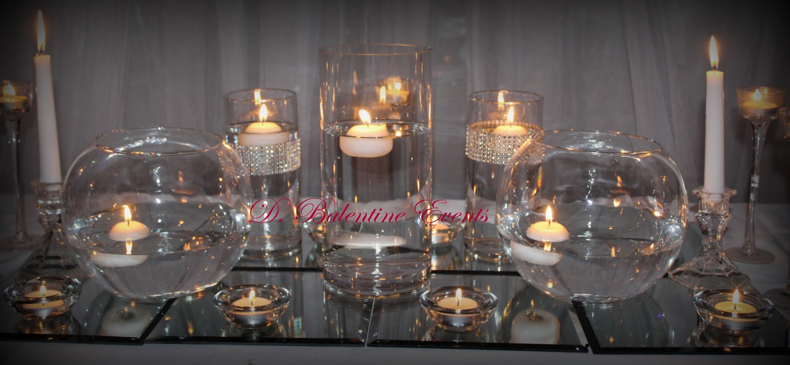 ... Centerpieces With Floating Candles, And Mirrors For The Runner. This A  Simple And Budget Friendly Idea For Your Next Table Setting Or Dinner Party.
