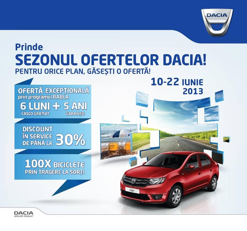 sezonul ofertelor Dacia - 30% discount