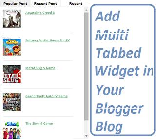 Multi Tab Blogger Widget