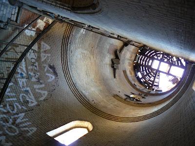 Wnętrze baszty wieży mostu w Tczewie