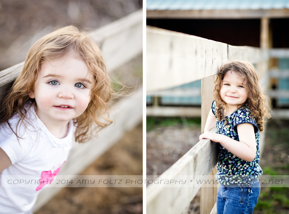 photos of little girls on a fence - Terre Haute photographer