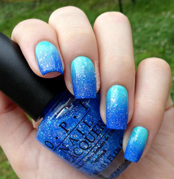 tropical ocean inspired nail art