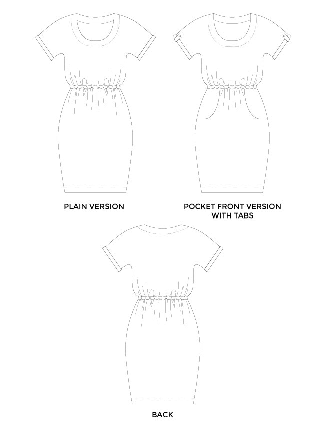 Bettine sewing pattern - easy dress pattern for beginners - Tilly and the Buttons