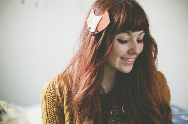 redhead, joy division, fox, barrette, animal, hairpiece