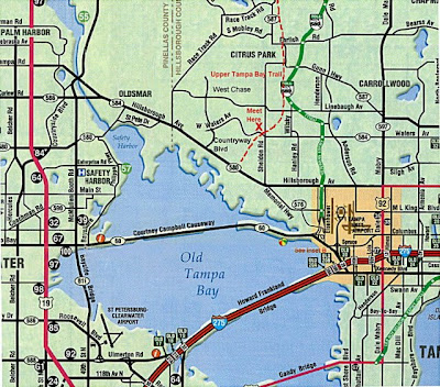 Map of Tampa Bay Florida