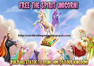 Castleville Game Yvette The seven Unicorns Quests Guide links