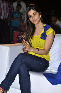 Madhuriam Benarjee in Beautiful Yellow top and Denim jeans spicy Pics