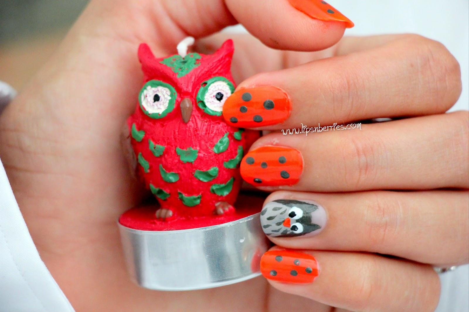 Owl Nail Art! Featuring Revlon Parfumerie in 'Italian ...