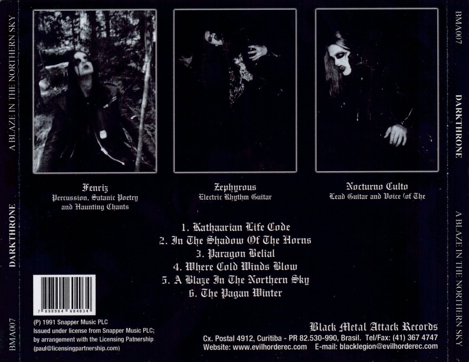 the arrival darkthrone a blaze in the northern sky 1992