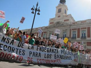 manifestación por los recortes en educación