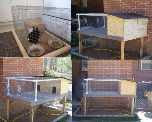 Rabbit house build a rabbit hutch plans - How to make a rabbit cage ...