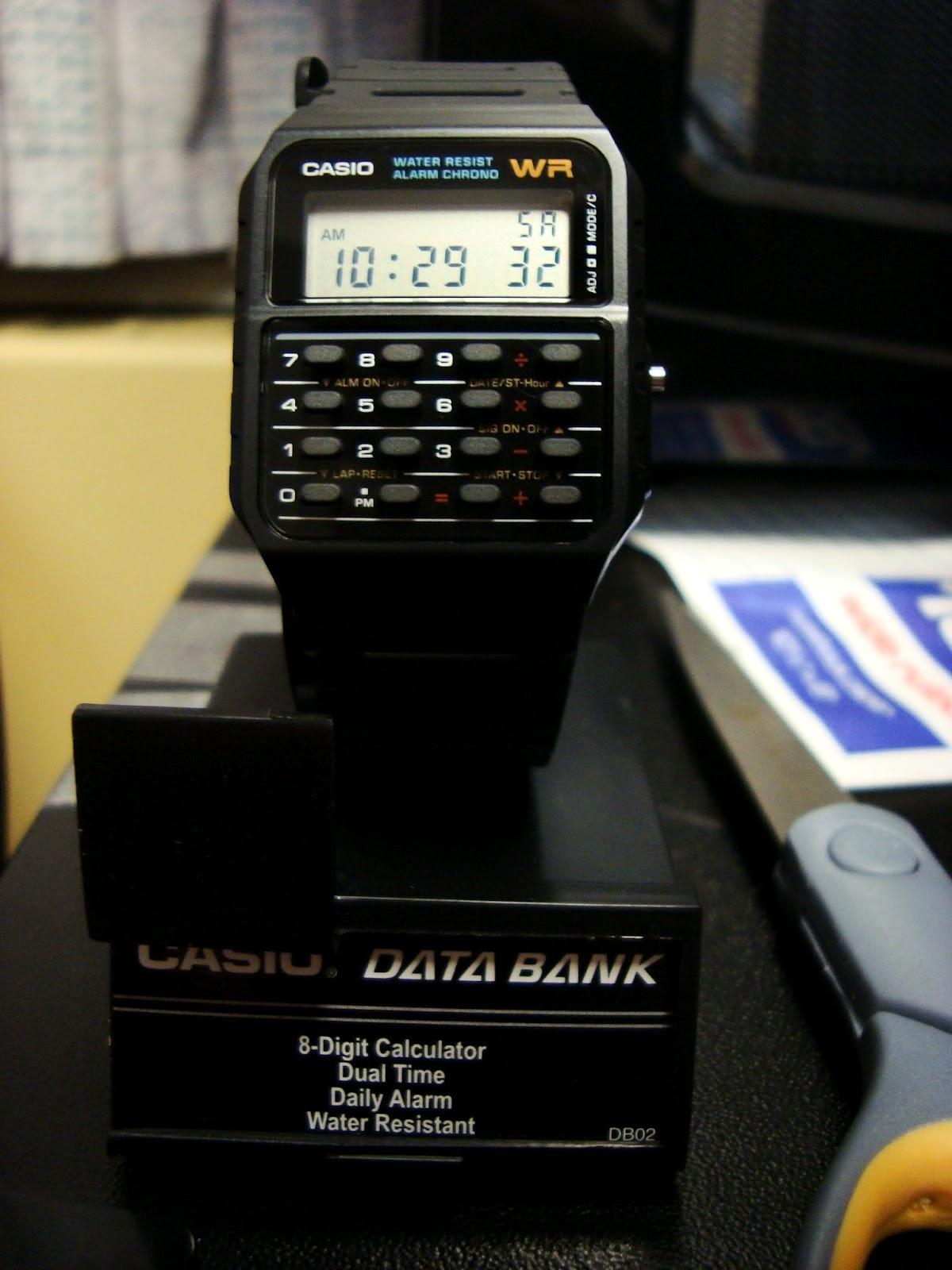 Calculator watch timex