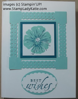 Stampin'UP! Dotted Scallop Ribbon Border Punch square medallion