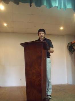 Cristobal Miguel Navarro, jurando su cargo