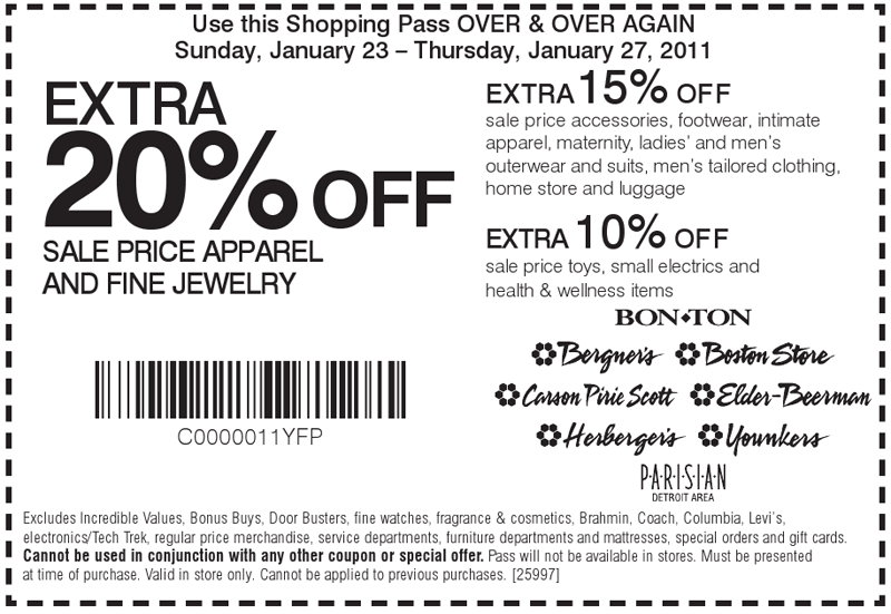 Carsons discount coupons