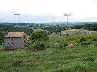 Vistes sobre La Caseta i Vilanova des de les feixes del damunt de la primera