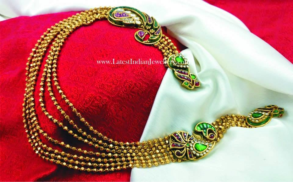 Latest Kundan Work Chandra Haram