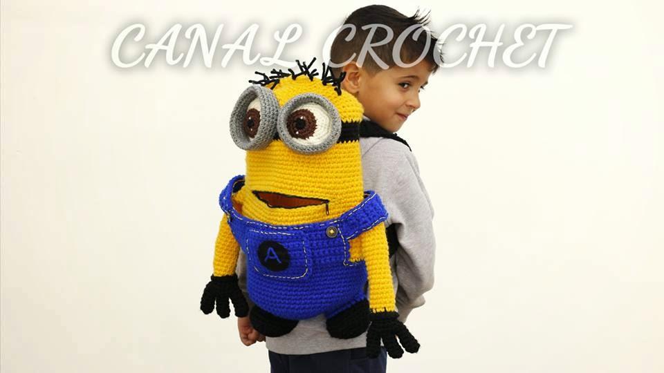 CANAL CROCHET: Mochila minions crochet