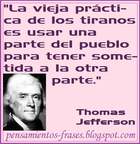 frases de Thomas Jefferson