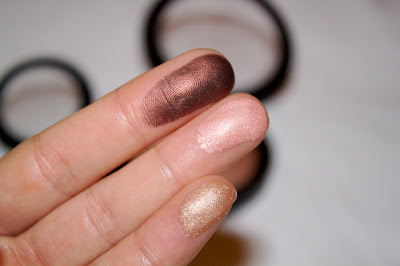 MAC Semi Precious haul goldstone msf smoked ruby eye shadow swatch