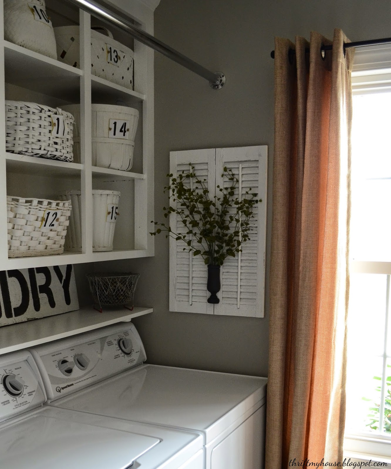 Thrift My House Laundry Room Reveal and a Washer Dryer Review
