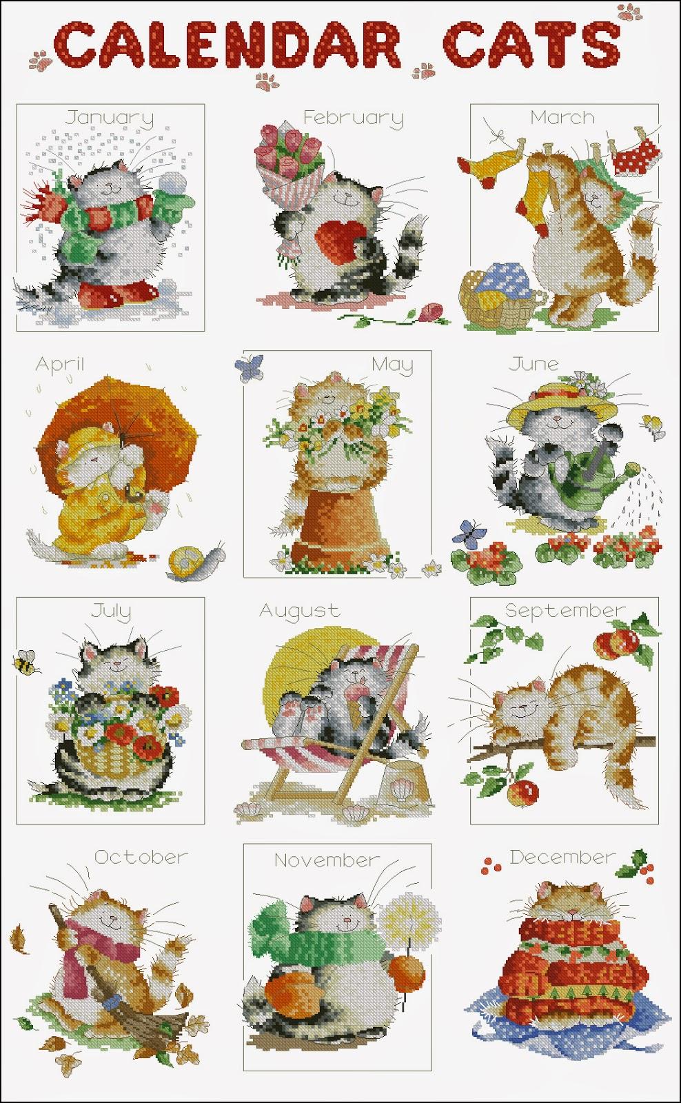 схема вышивки цветные лягушки