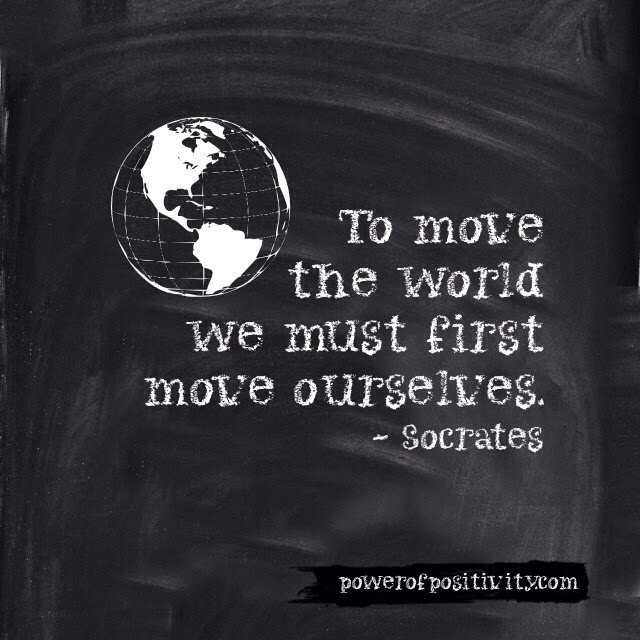 MOTIVATION 15 Best Socrates Picture Quotes - To move the world we must first move ourselves. - Socrates