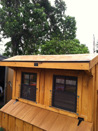 Chicken Coop Building Trim