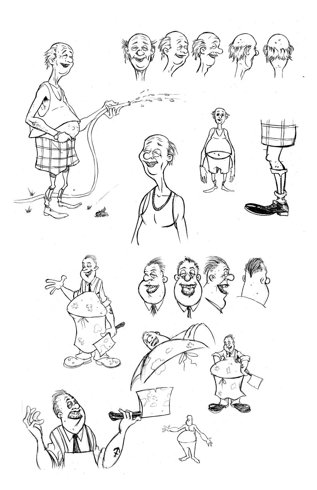 Character Design Concept Sketches : Cartoon concept design frank forte sketchbook now on sale