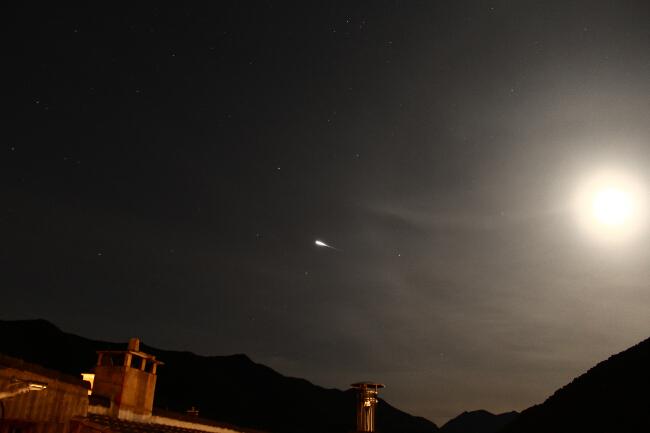 Satélite IRIDIUM 8 - El cielo de Rasal