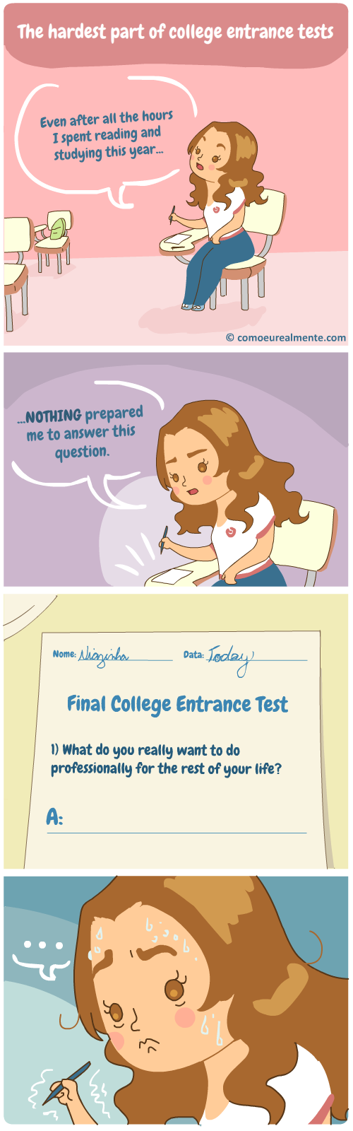 the hardest part of college entrance tests