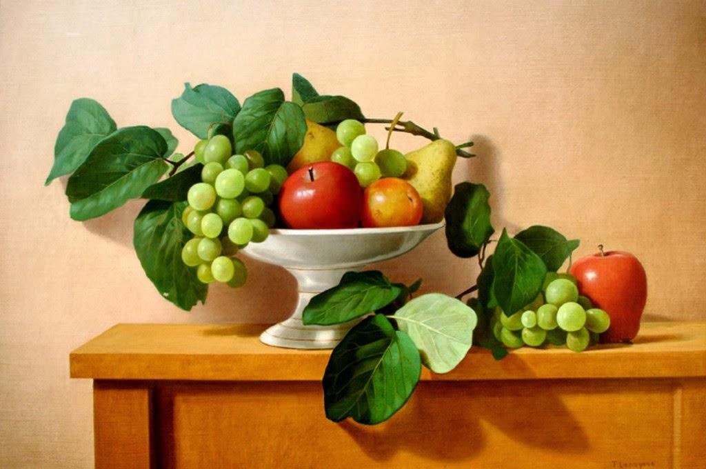 bodegones-hiperrealistas-con-flores-y-frutas