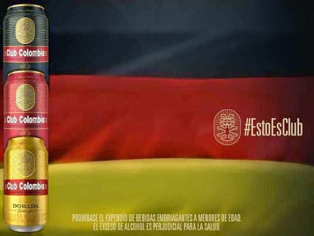 Club Colombia, Bavaria & Germnay; the perfect mix.