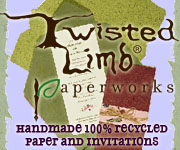 Twisted Limb Paper - Recycled, Handmade Invitations