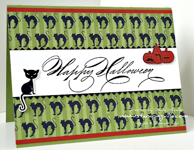 Halloween Card Idea With Hand Penned Holidays by Stampin' Up!