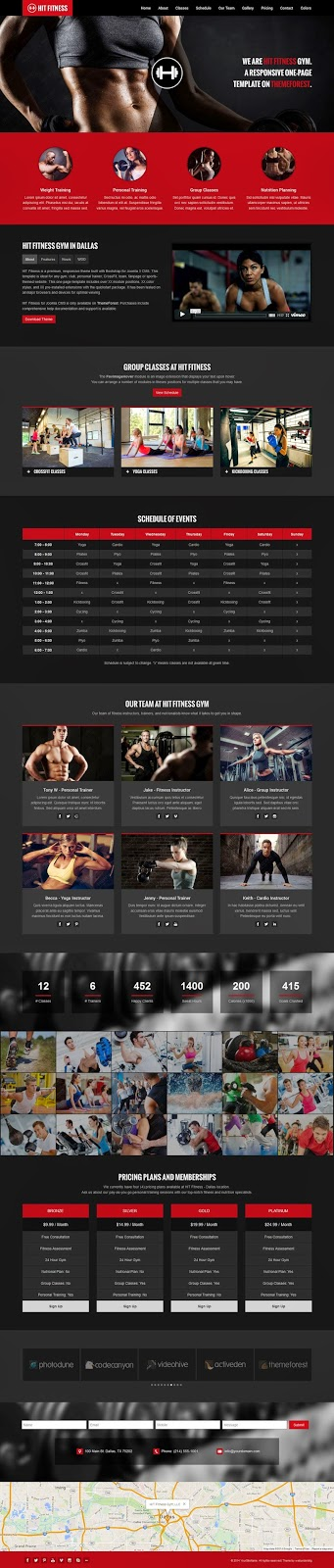 Fitness and Gym Website Template 2015