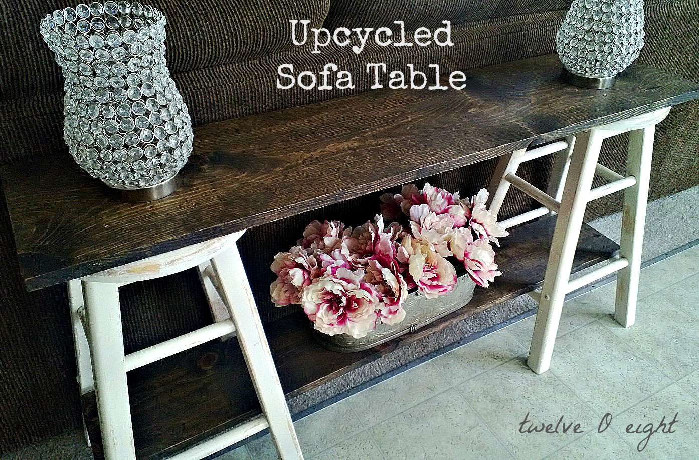 upcycled sofa table. Black Bedroom Furniture Sets. Home Design Ideas