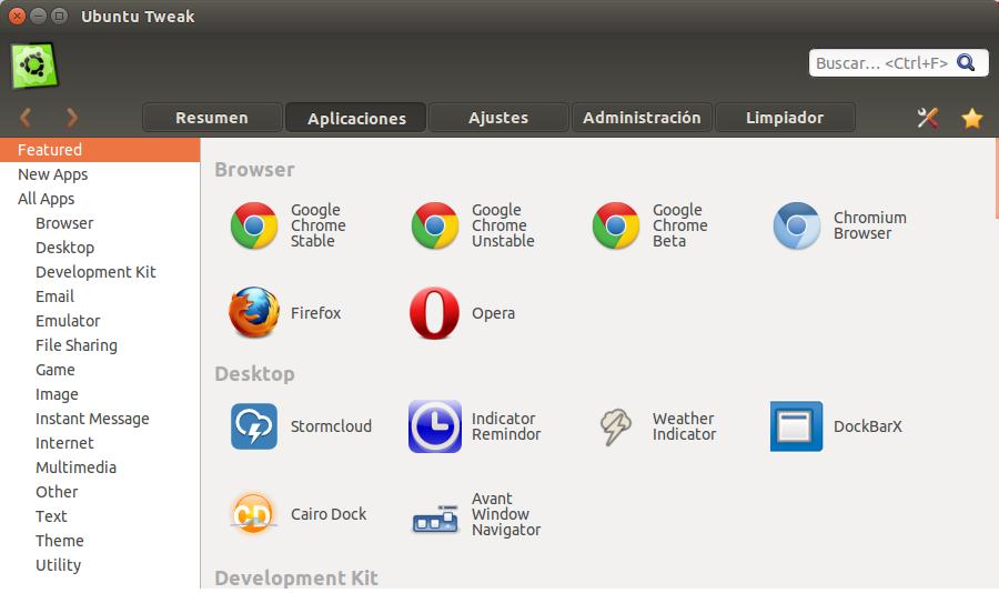 Review Ubuntu Tweak en Ubuntu 14.04 LTS, ubuntu para novatos, configurar ubuntu, primeros pasos ubuntu 14.04