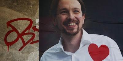 Photo de Pablo Iglesias Turriòn. L'origine de Podemos se trouve dans le manifeste «Prendre les choses en main : convertir l'indignation en changement politique », publié le week-end du 12 et 13 janvier 2014 par le journal numérique Público, et signé par une trentaine d'intellectuels, de personnalités de la culture, du journalisme et de l'engagement social et politique. Ce manifeste exprimait la nécessité de transformer la mobilisation sociale du mouvement des Indignés en processus électoral participatif et de créer ainsi une candidature pour les élections européennes de mai 2014 avec l'objectif d'opposer des idées de gauche aux politiques de l'Union européenne concernant la crise économique. Bien que ne figurant pas parmi les signataires du manifeste, le mouvement annonça le 14 janvier que le professeur de sciences politiques de l'UCM et analyste politique télévisuel, Pablo Iglesias Turrión, en prendrait la tête.