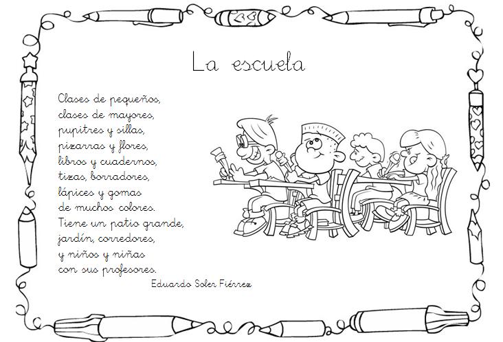 Poemas Para Ninos De Escuela